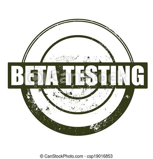 beta testing stamp - csp19016853
