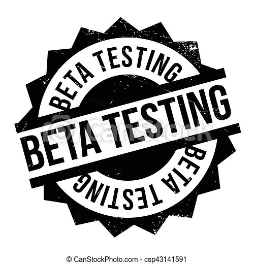 Beta testing stamp - csp43141591