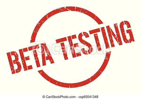beta testing stamp - csp65041348