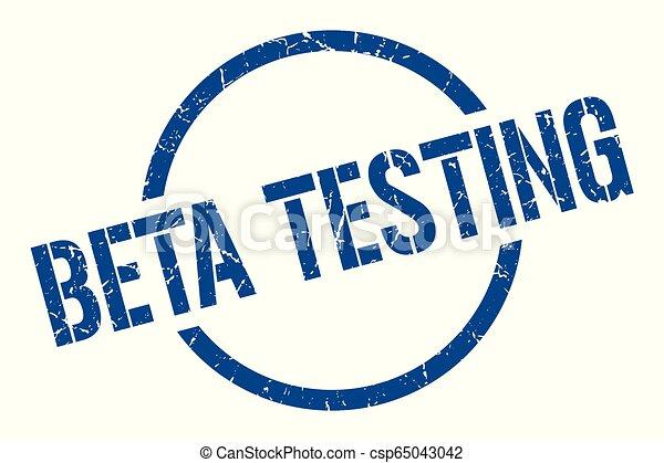 beta testing stamp - csp65043042