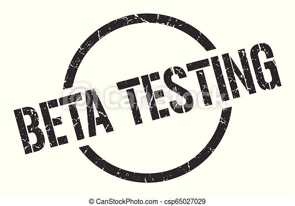 beta testing stamp - csp65027029