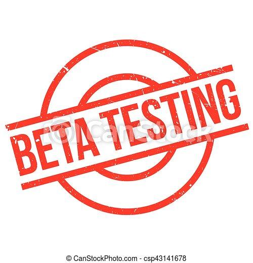 Beta testing stamp - csp43141678
