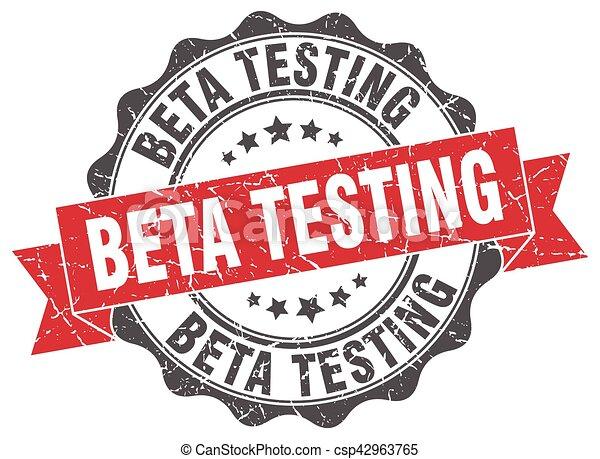 beta testing stamp. sign. seal - csp42963765
