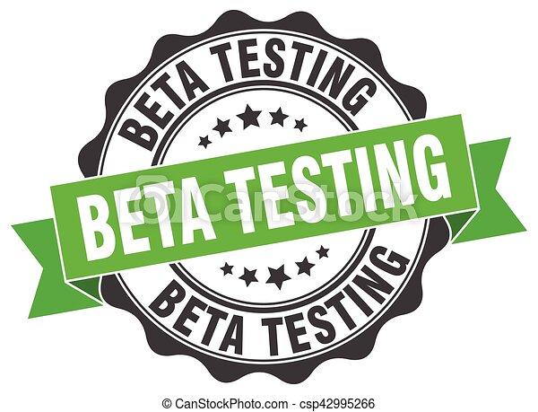 beta testing stamp. sign. seal - csp42995266