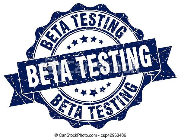 beta testing stamp. sign. seal - csp42963486