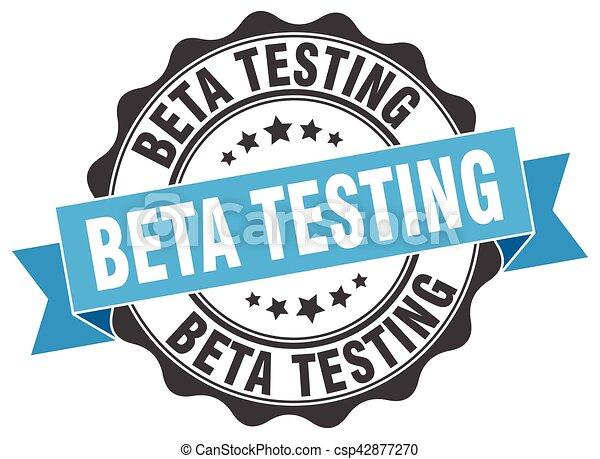 beta testing stamp. sign. seal - csp42877270