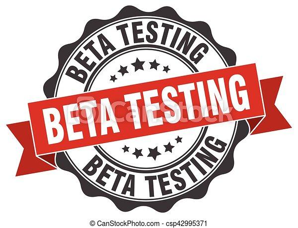 beta testing stamp. sign. seal - csp42995371