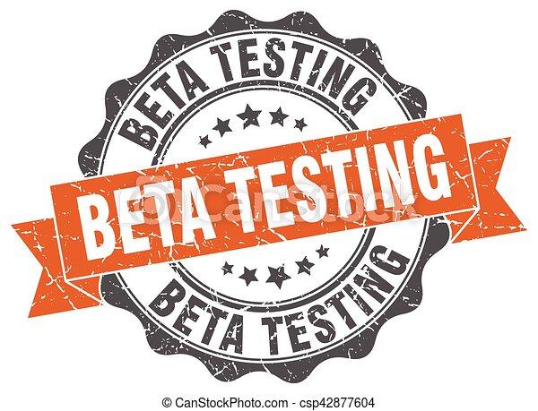 beta testing stamp. sign. seal - csp42877604
