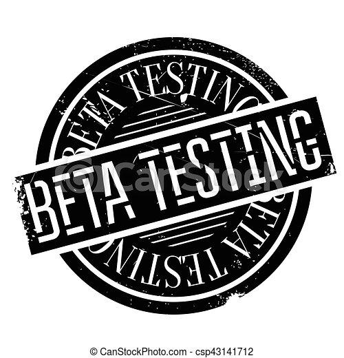 Beta testing stamp - csp43141712