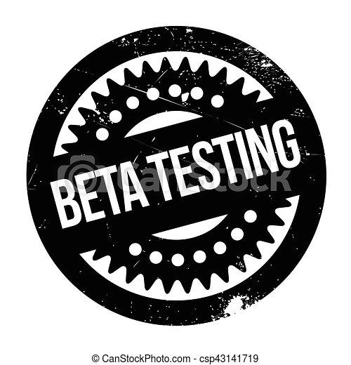 Beta testing stamp - csp43141719