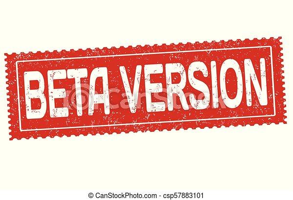 Beta version grunge rubber stamp - csp57883101