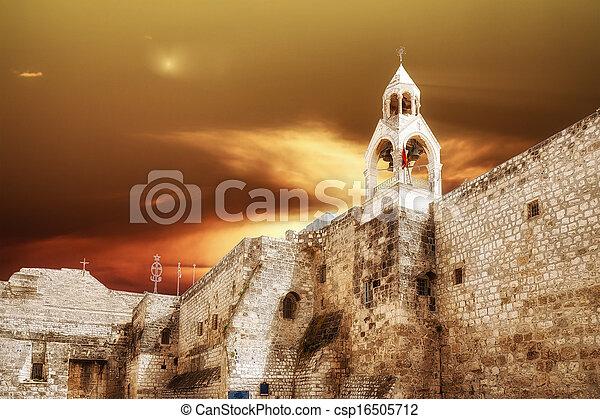 Bethlehem Basilica of the Nativity - csp16505712