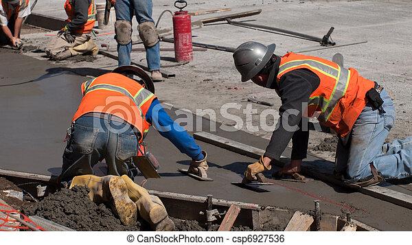 beton, bouwsector, straat - csp6927536