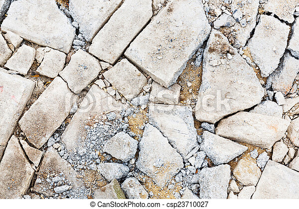 beton, gebarsten, vloer - csp23710027