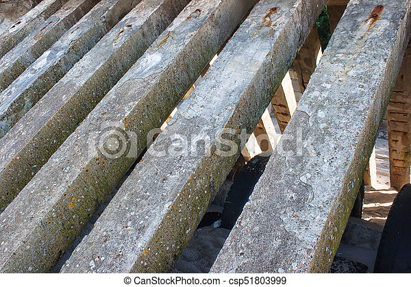 Betonieren Pfeiler Zaun Sommer Draussen Zaun Saule Beton