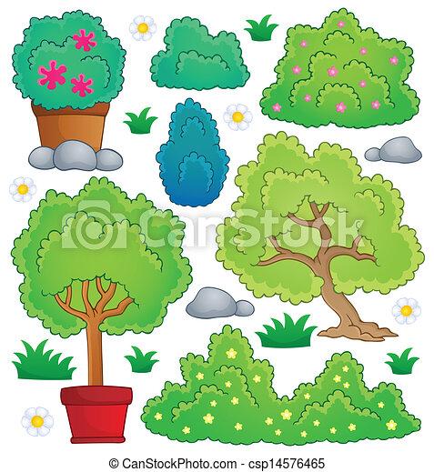 Pflanzen und Buschthemensammlung 1 - csp14576465