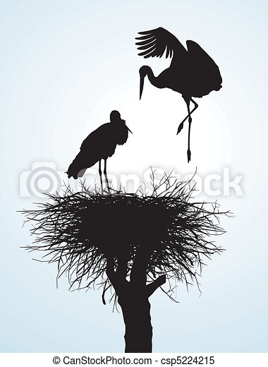 Betrothal storks - csp5224215