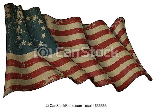 Estados Unidos apuesta la bandera histórica - csp11635563