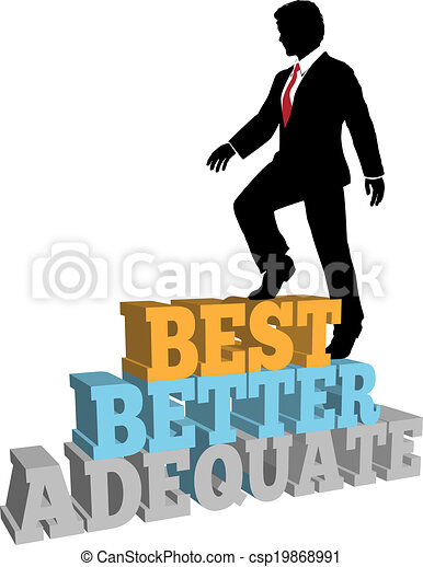 Better business man best self improvement - csp19868991