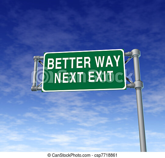 Better way highway street sign - csp7718861
