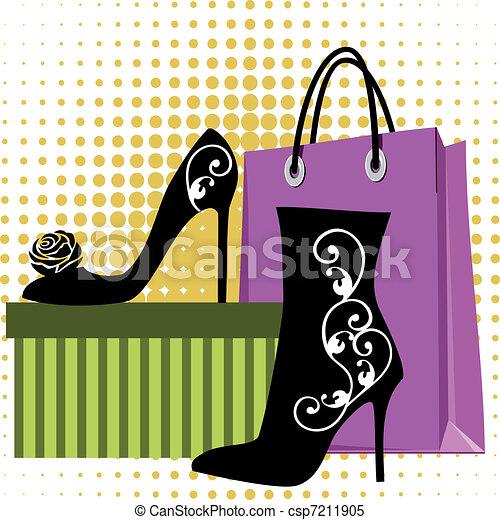bevásárlás, cipők - csp7211905