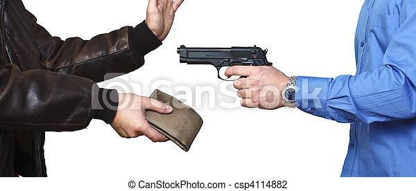 beväpnad röveri - csp4114882