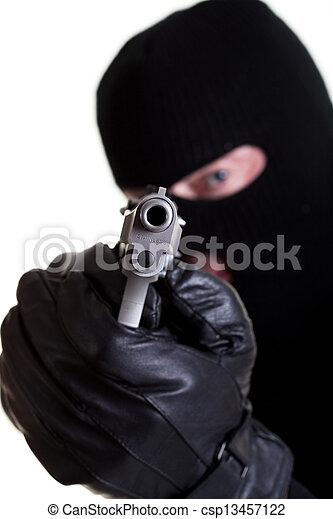 beväpnat, rånare - csp13457122