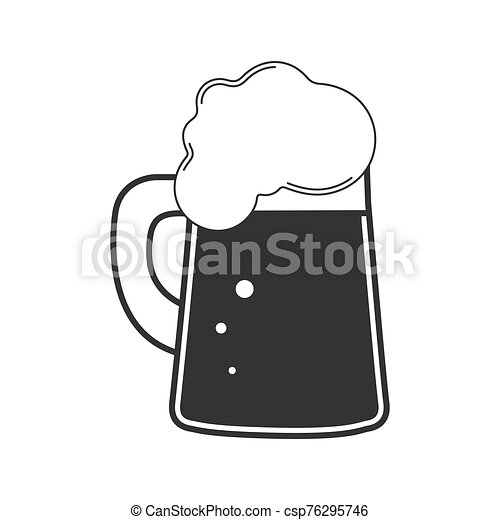 bevanda, vetro., bianco, beer., tazza birra, schiumoso, fondo., isolato - csp76295746