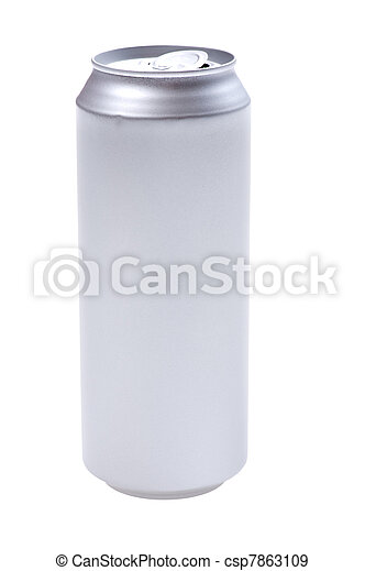 beverage can isolated on white background - csp7863109