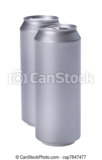 beverage can on white - csp7847477