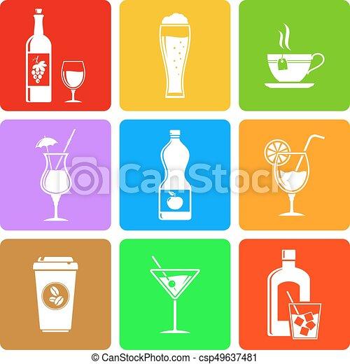 Beverage flat icons - csp49637481