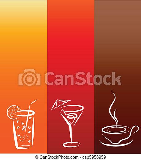 beverage icons; design template - csp5958959