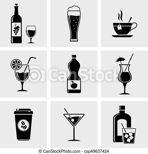 Beverage icons - csp49637424