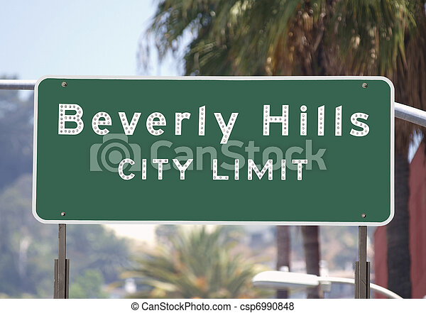 Beverly Hills City Limits Sign Beverly Hills City Limits Sign
