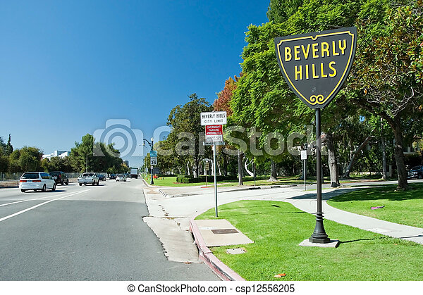 Beverly Hills sign in Los Angeles park - csp12556205