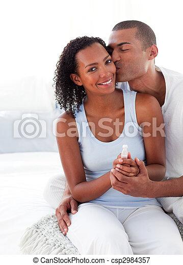 bevinding, paar, resultaten, test, opgewekte, zwangerschap, uit - csp2984357