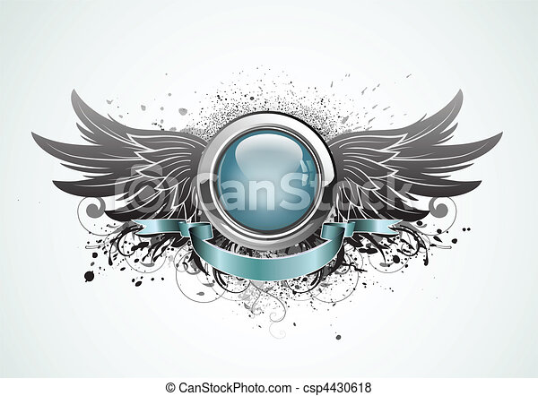 bevinget, insignie - csp4430618
