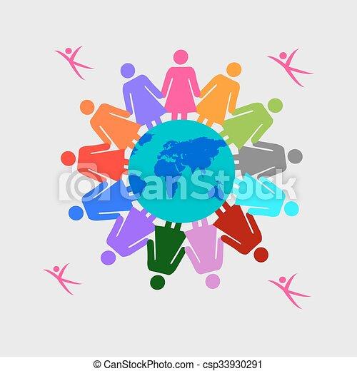 Bevollmächtigte Frauen Vektor Mut Begriff Abbildung Einheit