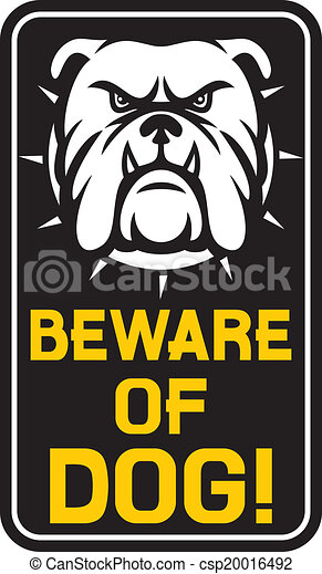 beware of dog sign  - csp20016492