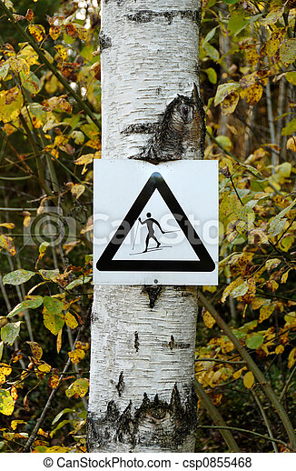 Beware of Skiers - csp0855468