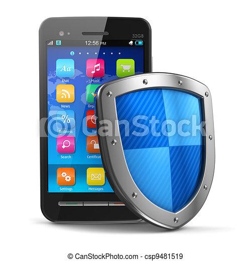 beweeglijk, veiligheid, concept, antivirus, bescherming - csp9481519