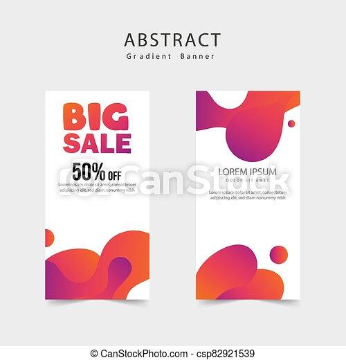 beweeglijk, verkoop, groot, mal, spandoek, vloeistof, dynamisch, moderne, ontwerpen kleur, banieren - csp82921539