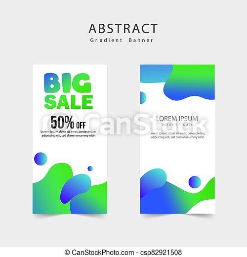 beweeglijk, verkoop, groot, mal, spandoek, vloeistof, dynamisch, moderne, ontwerpen kleur, banieren - csp82921508