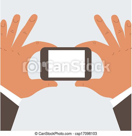 Geschäftsmann mit Handy - csp17098103