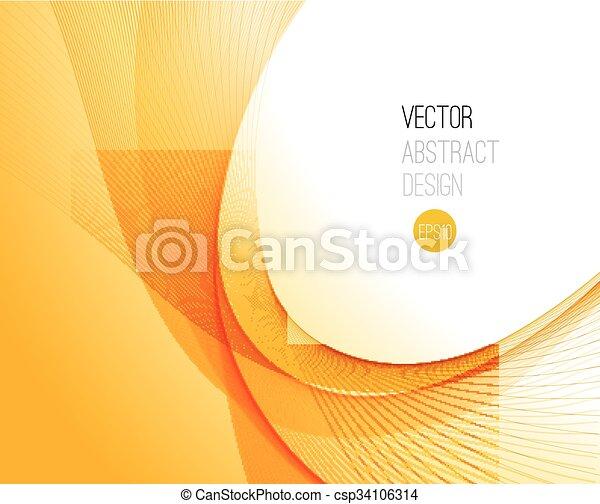 bewegung, abstrakt, glatt, abbildung, welle - csp34106314