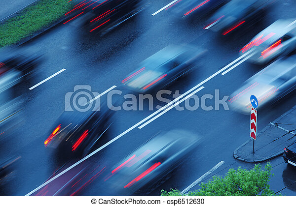 bewegung, bewegen, autos, verwischt - csp6512630