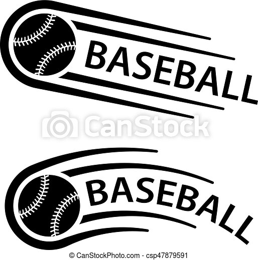 bewegung, linie, kugel, baseball, symbol - csp47879591
