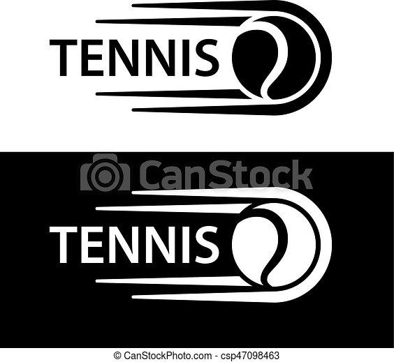 Tennisball-Bewegungszeichen - csp47098463