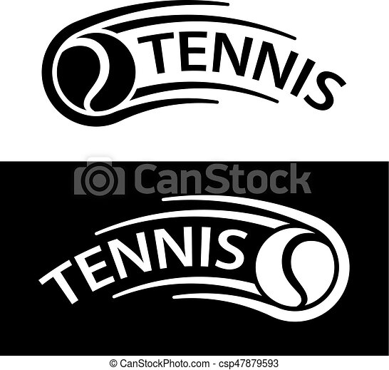 bewegung, linie, tennis, symbol, kugel - csp47879593