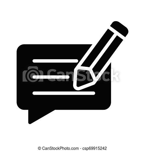 bewerken, praatje - csp69915242